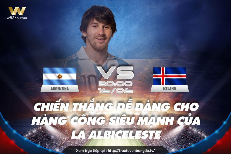 Soi kèo bóng đá - Argentina vs Iceland
