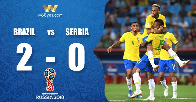 Kết quả World Cup 2018 - Brazil 2-0 Serbia: Các ngôi sao Samba có chiến thắng dễ dàng để đi tiếp