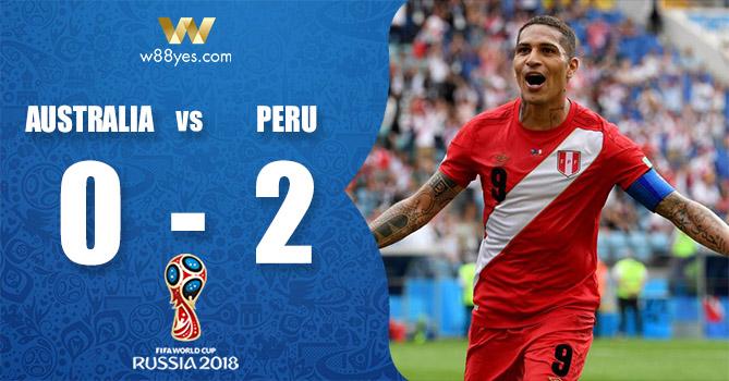 Kết quả World Cup 2018 - Úc 0-2 Peru: Đội bóng Nam Mỹ có chiế thắng World Cup sau 40 năm