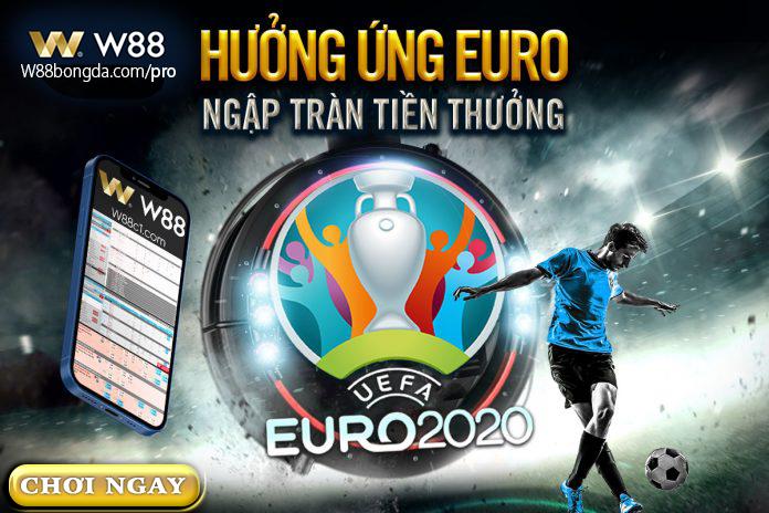 khuyến mãi EURO 2021 từ W88bongda